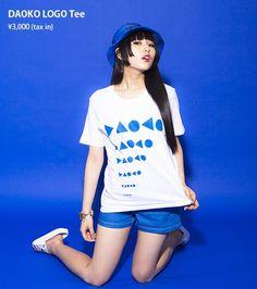 "DAOKO_staffさんのツイート: ""NEW グッズ 前回ワンマンから約8ヶ月振りのツアー、青色主義の皆様と燃え上がります!④「DAOKO LOGO…"