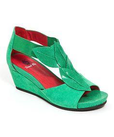 Love this Green Soho Platform Sandal on #zulily! #zulilyfinds