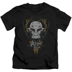 """Checkout our #LicensedGear products FREE SHIPPING + 10% OFF Coupon Code """"Official"""" Hobbit / Azog-short Sleeve Juvenile 18 / 1(4) - Hobbit / Azog-short Sleeve Juvenile 18 / 1(4) - Price: $24.99. Buy now at https://officiallylicensedgear.com/hobbit-azog-short-sleeve-juvenile-18-1-4"""