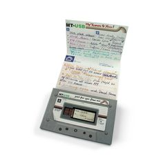 USB Mix Tape - How cool is this? (For all of us old people.) The USB drive nestles in the middle of a cassette and a paper folds out for writing the song list on. Mixtape, Design Online Shop, Usb Stick, Valentines Day Gifts For Her, Usb Flash Drive, Usb Drive, Geek Stuff, Cool Stuff, My Love