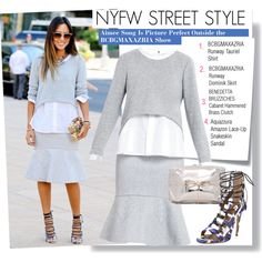 """""""NYFW Street Style-Aimee Song Is Picture Perfect Outside the BCBGMAXAZRIA Show"""" by kusja on Polyvore"""