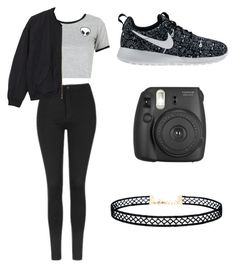 """""""Necessary Black"""" by washingtonkellie on Polyvore featuring Topshop, WithChic, Monki, NIKE and LULUS"""