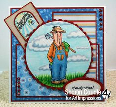 Gramma's House of Cards: Art Impressions using His and Hers Gardeners Art Impressions stamp set available at Michael's