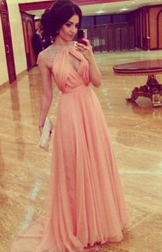 Chiffon Beading Prom Dress,A-Line Prom Dress,Charming Prom Dress,Sexy