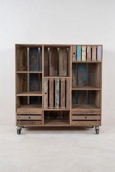 Almere Teak boekenkast laag model | Ideeën voor het huis | Pinterest ...