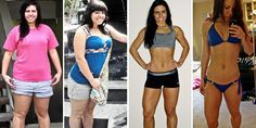195 lbs - 145 lbs   Her grocery list, tips, and workout plan...inspirational blog