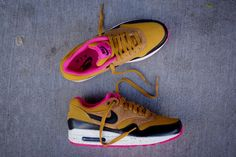 Nike WMNS Air Max 1 - Gold Suede / Black | Sneaker | Kith NYC