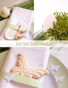 DIY Serviettenringe aus Masking Tapes 3er Tassenkekse / Cookie Cutter /  Easter / Ostern / Tablesetting www.kukuwaja.de