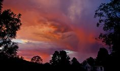 ...well that was interesting - moody sunset! #canberra