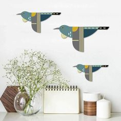 Wall art birds for above the bar area, available from the Design Store $49.95 Parcel Box, Outdoor Areas, Sofa Set, Glass Art, Folk, Birds, Wall Art, Retro, Prints