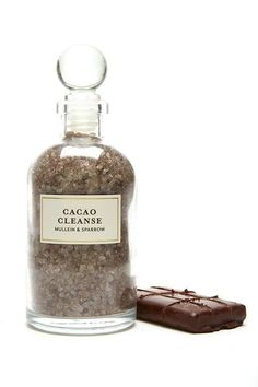 According to Mayan legend, human beings were created in part from cacao, perhaps suggesting that our draw to all things chocolate is actually an instinctual return to our very essence. This ancient plant has long been thought of as natural medicine to be used for ceremonial purposes and was once reserved only for royalty.    Our luxurious bath salts are made using all natural Cacao Absolute, the latin name for which translates to food of the gods. Antioxidant-rich Cacao increases blood…