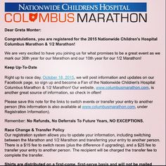 """@greta_monter: """"So...this is happening. Hoping to stay injury free and motivated for the next 8 months. I'm so excited! Only runners would understand that it's exciting to spend $75 to run 26.2 miles. Right? #columbusmarathon #hereigo #run #believe #hopeandpray #CMnation"""" Millersburg, OH"""