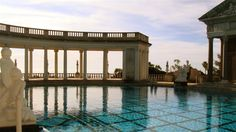the spectacular pool at Hearst Castle