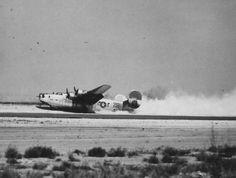 B-24 gear up landing