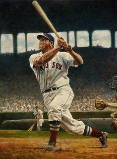 Fine Art — Art of Bruce Stark Baseball Videos, Baseball Quotes, Baseball Girls, Baseball Pictures, Baseball Art, Sports Baseball, Baseball Jerseys, Sports Pics, Boston Baseball