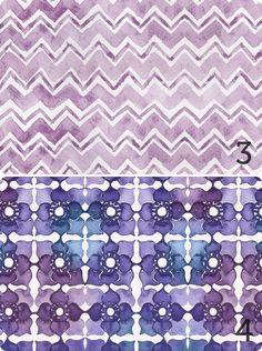 August Empress Watercolour Patterns