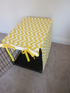 I like this -- it's a good way to dress up the crate so it fits your decor better. Will have to work on a design for this for the new crate I'm having delivered tomorrow.