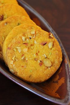 Eggless Saffron Cookies Laced With Pistachios