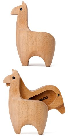 A wooden llama with a secret compartment. Does it get any better?