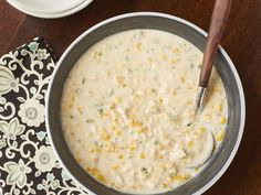 Quick Chicken-Corn Chowder Added some chopped, softened potatoes and bacon. You can have this chicken corn chowder on the table in less than 30 minutes. Chowder Recipes, Soup Recipes, Chicken Recipes, Cooking Recipes, Quick Recipes, Popular Recipes, Cooking Games, Recipies, Weeknight Recipes