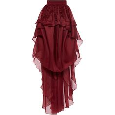 Antonio Berardi Tiered Ruffle Maxi Skirt (5,070 CAD) ❤ liked on Polyvore featuring skirts, high-waisted maxi skirt, long ruffle skirt, high waisted maxi skirt, long silk skirt and high-waisted skirts