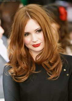 Karen gilan- love the color