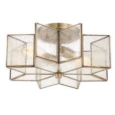 With a chic gold finish and delicate frame, this flush mount's gorgeous repeating pattern instantly adds a refined touch to any overhead look.