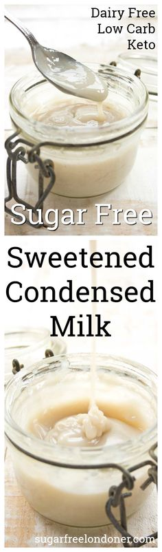 A simple homemade sugar free condensed milk that works wonders in low carb and Keto dessert recipes. Only 3 ingredients and 1/10 of the carbs in regular sweetened condensed milk!