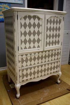 harlequin painted dresser