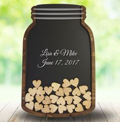 Mason Jar Guest Book Guest Book Alternative Drop by CoosaDesigns