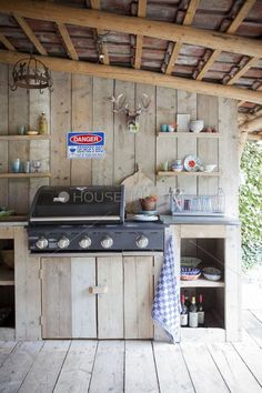 An outdoor kitchen can be an addition to your home and backyard that can completely change your style of living and entertaining. Indoor Outdoor, Outdoor Spaces, Outdoor Gardens, Outdoor Decor, Rustic Outdoor, Outdoor Cooking, Outdoor Entertaining, Outside Living, Outdoor Living