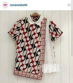 Batik Indonesia Batik Kebaya, Kebaya Dress, Batik Dress, Model Dress Batik, Blouse Styles, Blouse Designs, Blouse Batik Modern, Dress Batik Kombinasi, Mode Batik