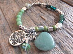Nieuw in onze collectie, diverse groene armbanden van het  merk Biba
