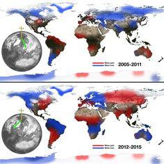 El deshielo de los polos desplaza el eje de rotación de la Tierra al Este | NUESTROMAR