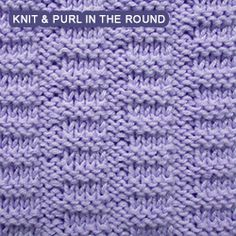 Broken Rib - Pattern 2 - knitting in the round. [Knit and Purl in the round] Easy pattern - Broken Rib stitch