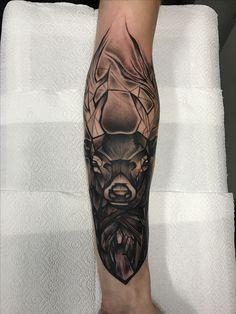 Geometric deer to start my geo animal sleeve