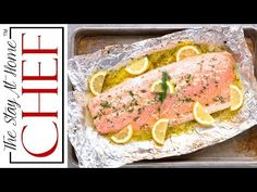 It doesn't get much easier than this Easy 5 Ingredient Baked Salmon with a garlic, lemon, and dill butter sauce. Ready in 20 minutes!