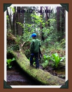 scavenger hunt in the woods