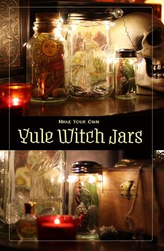 Make your own Witch Jars for Yule Altar Decoration