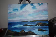 """Ocean landscape oils on canvas 11""""x14"""""""