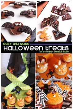 easy halloween treats @eyecandycreate #halloween #halloweentreats  #halloweeneats #Halloweendesserts
