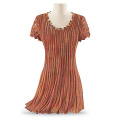 Orange Yarn Tunic - New Age, Spiritual Gifts, Yoga, Wicca, Gothic, Reiki, Celtic, Crystal, Tarot at Pyramid Collection