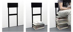 溜まった雑誌や新聞の山が「椅子」に変身?【Stack Chair】