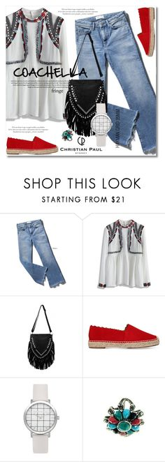 """""""Festival Trend: Fringe"""" by svijetlana ❤ liked on Polyvore featuring Chicwish, Chloé, fringe, polyvoreeditorial and christianpaul"""