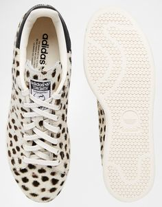 Image 3 of adidas Originals Cheetah Print Pony Stan Smith Trainers
