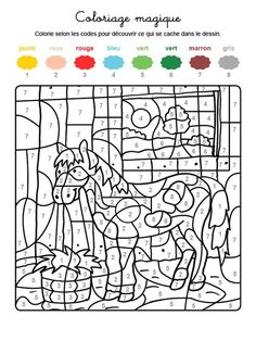 Colour by numbers : un poney Drawing For Kids, Art For Kids, Crafts For Kids, Color By Numbers, Paint By Number, Thought Pictures, Library Activities, Maila, Colouring Pages