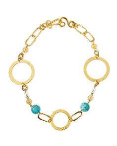 Love Gold-Dipped Turquoise Necklace  by Stephanie Kantis at Neiman Marcus.