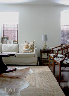 neutral living room // via design manifest