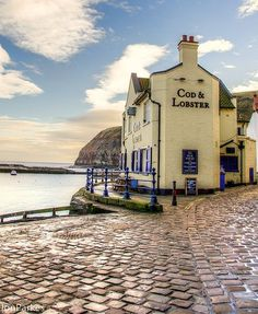 The Cod and Lobster, Staithes, North Yorkshire - England. Cornwall England, Yorkshire England, Yorkshire Dales, North Yorkshire, England Uk, London England, Oxford England, British Pub, British Isles
