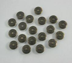 40 sets.Round Brass Vintage Star Graphic Buttons Rivets Studs Decorative Rivets 12 mm. GP BR12 K